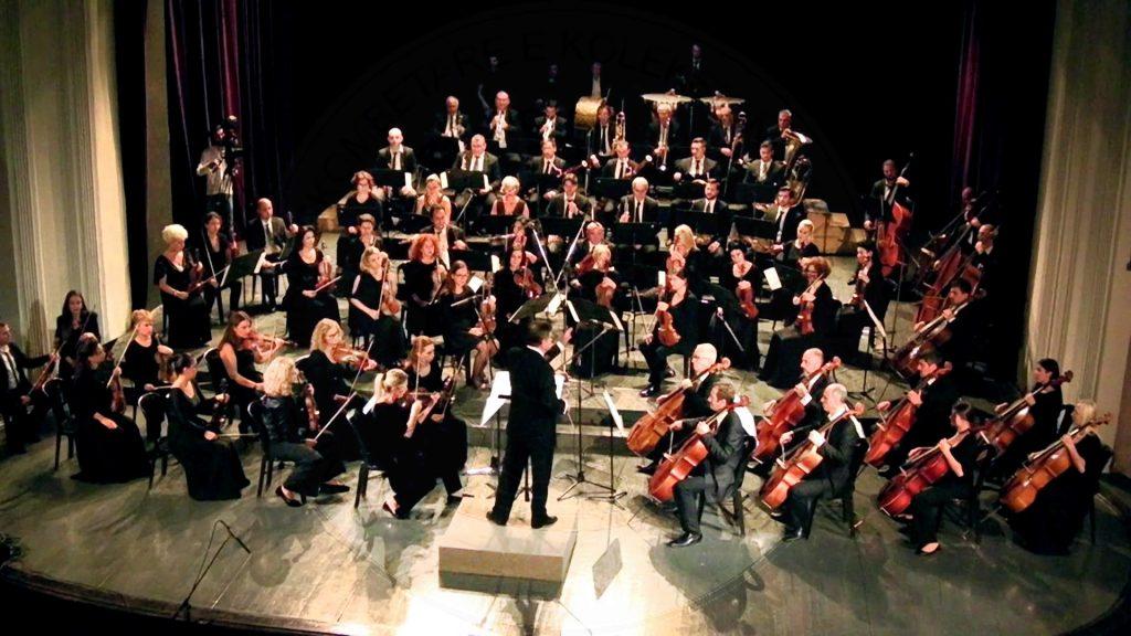 5 Gusht 1945, orkestra sinfonike e Radio-Tiranës drejtuar nga Umberto Rampi dha koncert  zanor-instrumental