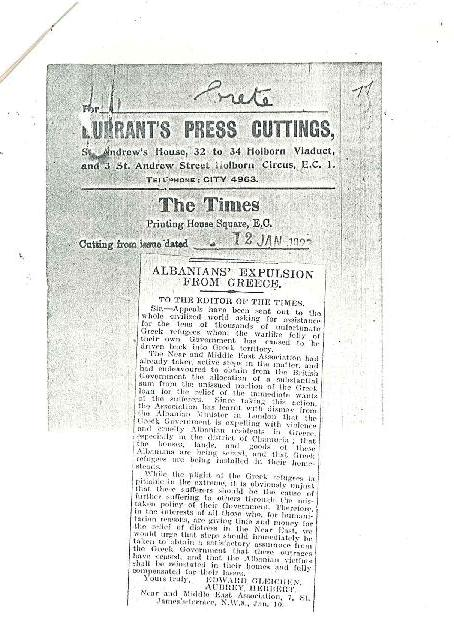 """Pse habitet Greqia?! Një artikull për Çamërinë i gazetës """"The Times"""" që në vitin 1923"""