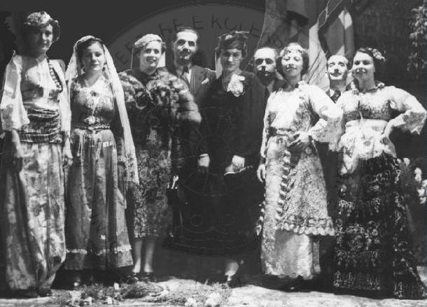 16 Shtator 1937,  Jorgjie Truja, Marie Kraja dhe Tefta Tashko; koncert në Bari