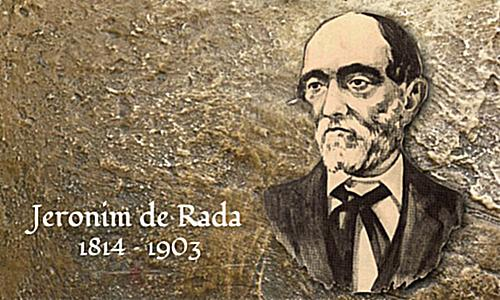 1st October 1895, Jeronim de Rada, held the first Congress of the Albanian Language for the italo-albanian in Italy