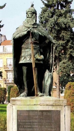 The towns where stands the Albanian national hero Skenderbeg