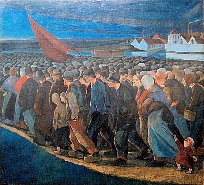 16 May 1940 workers went on strike, working to build the airport near Berat