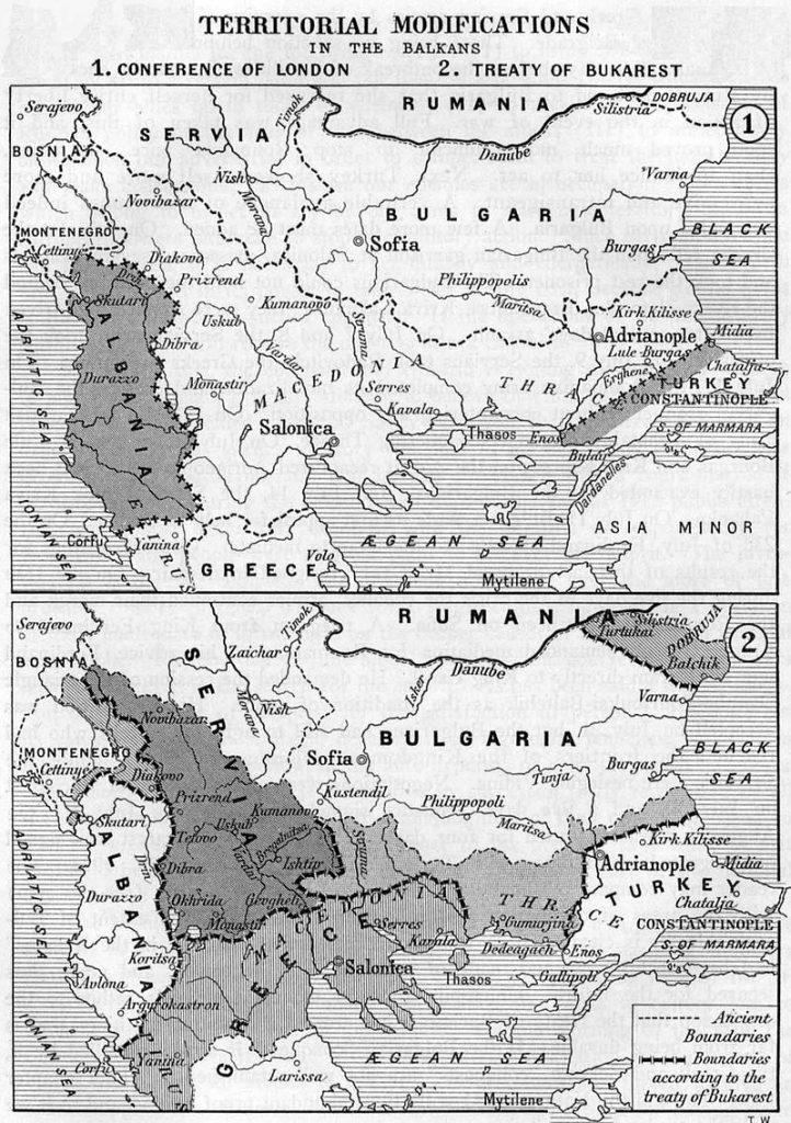 10 August 1913, the Bucharest Peace Treaty ended the Second Balkan War