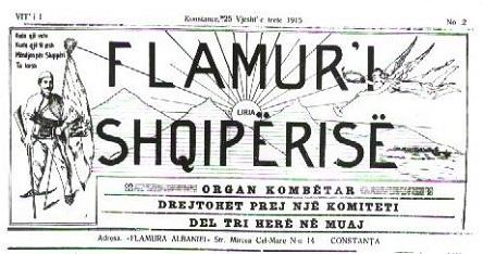 15 Nëntor 1915, numri i parë i gazetës Flamuri i Shqipërisë